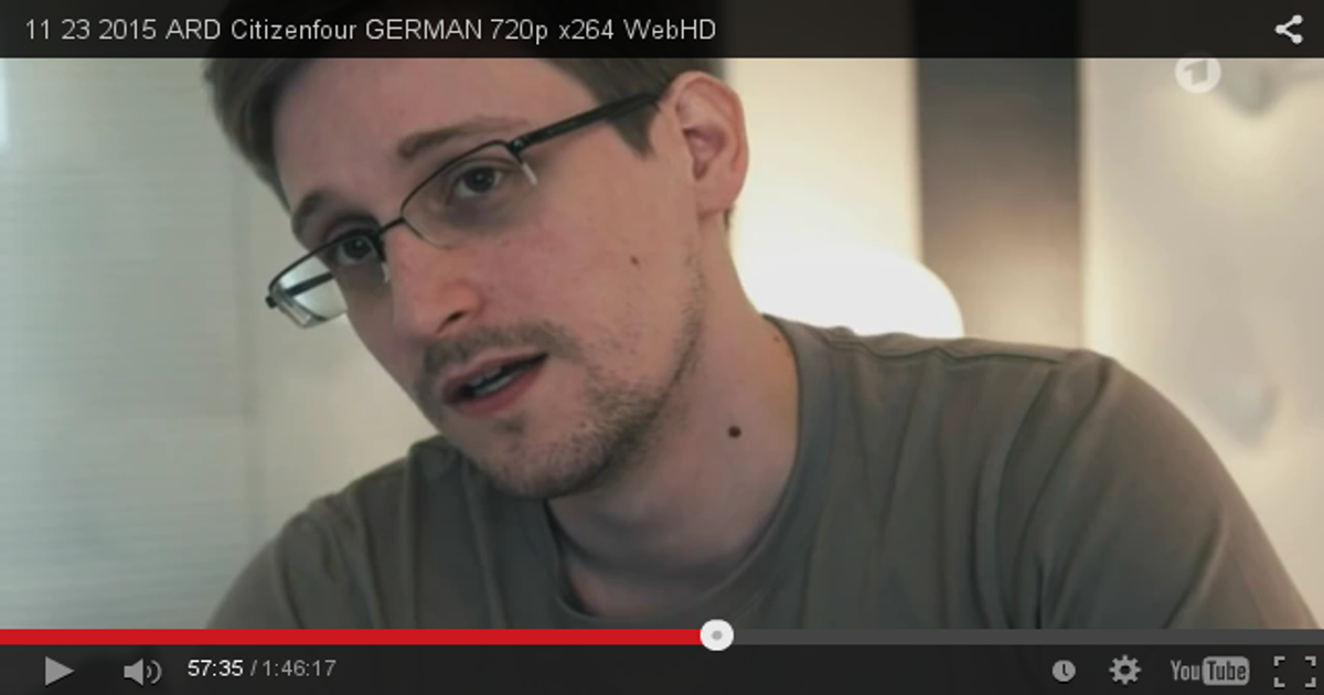 In diesem Film redet Edward Snowden Klartext