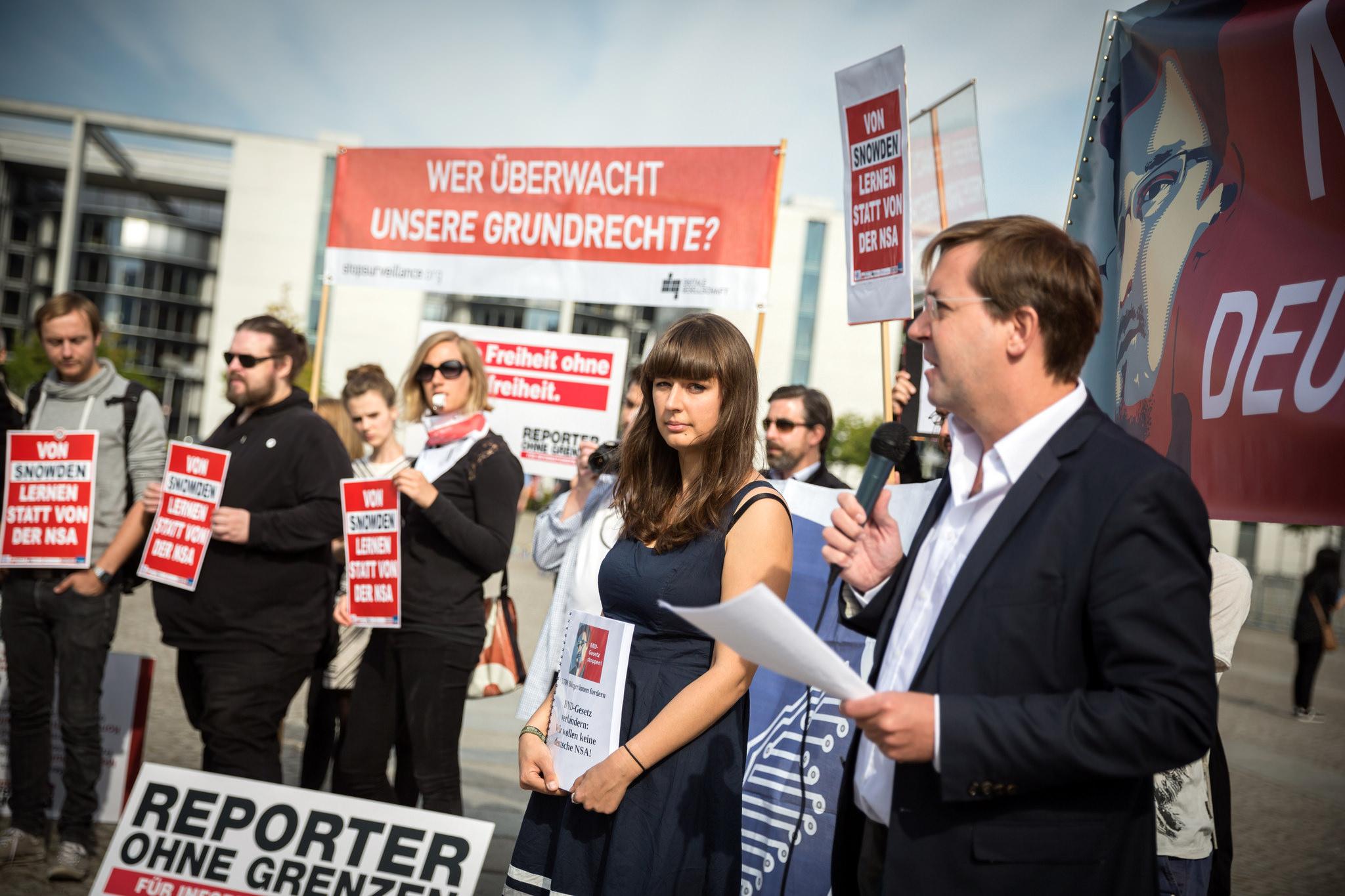 Tagesschau: Breiter Protest gegen das BND-Gesetz