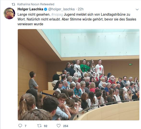Landtag Polizeigesetz